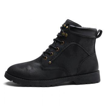 Autumn and Winter Fashion Breathable Casual Sports Men'S Boots - BLACK 40