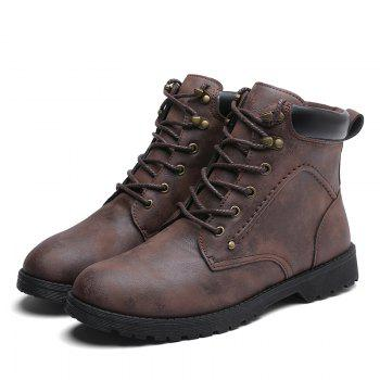 Autumn and Winter Fashion Breathable Casual Sports Men'S Boots - BROWN BROWN