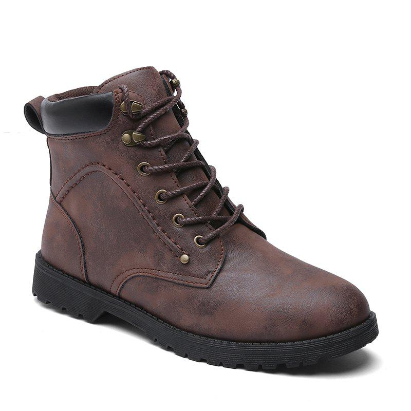 Autumn and Winter Fashion Breathable Casual Sports Men'S Boots - BROWN 40