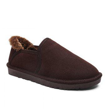 Winter Plus Velvet Casual Non-Slip Male Snow Boots - MOCHA MOCHA