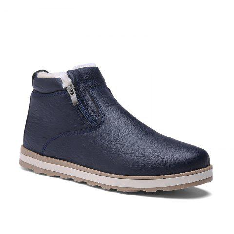 Autumn and Winter Plus Velvet Casual Breathable Non-Slip Men'S Shoes - BLUE 39
