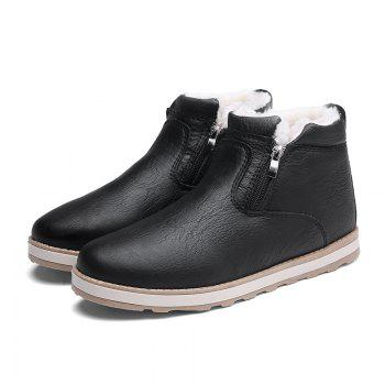 Autumn and Winter Plus Velvet Casual Breathable Non-Slip Men'S Shoes - BLACK BLACK