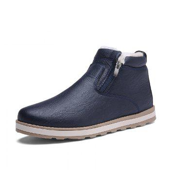 Autumn and Winter Plus Velvet Casual Breathable Non-Slip Men'S Shoes - BLUE BLUE
