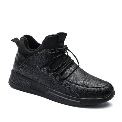 Autumn and Winter Non-Slip Outdoor Sports Men's Shoes - BLACK 39