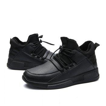 Autumn and Winter Non-Slip Outdoor Sports Men's Shoes - BLACK BLACK