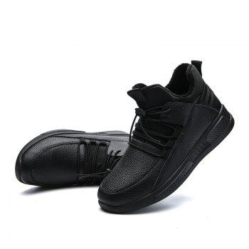 Autumn and Winter Non-Slip Outdoor Sports Men's Shoes - BLACK 44