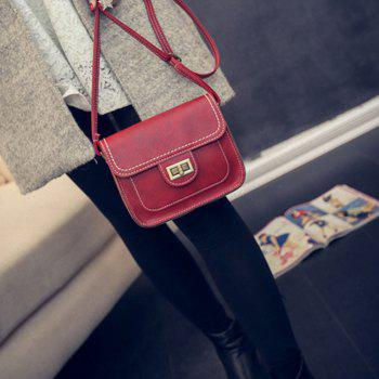 Women's Crossbody Retro Solid Color All Match Dainty Chain Bag - RED