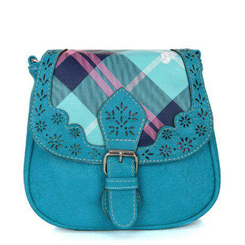 Women's Crossbody  Vintage Mori Girl Style Chromatic Leopard Bag - BLUE