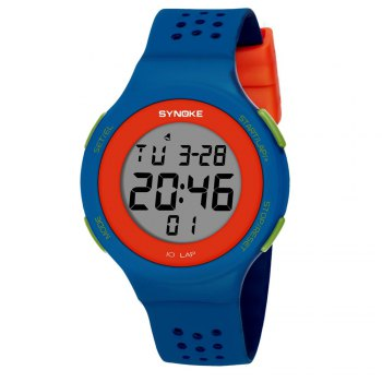 SYNOKE 67866 Slim Trendy Waterproof Unisex Electronic Watch - BLUE