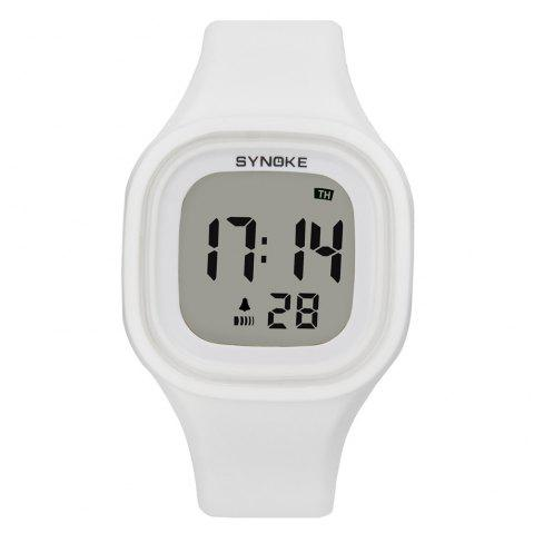 White Digital Watches for Women compare prices and buy online Source · SYNOKE 66896 Waterproof Silicone Band Couple Electronic Watch WHITE
