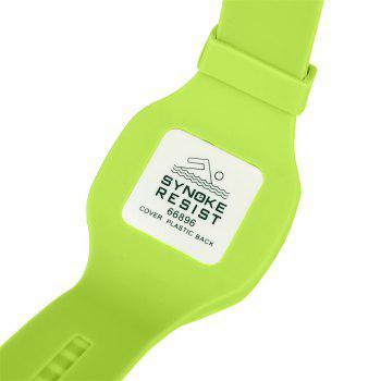 SYNOKE 66896 Waterproof Silicone Band Couple Electronic Watch -  GREEN