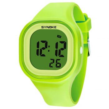 SYNOKE 66896 Waterproof Silicone Band Couple Electronic Watch - GREEN GREEN