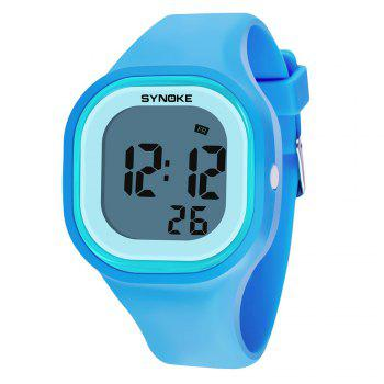 SYNOKE 66896 Waterproof Silicone Band Couple Electronic Watch - BLUE BLUE