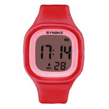 SYNOKE 66896 Waterproof Silicone Band Couple Electronic Watch -  RED