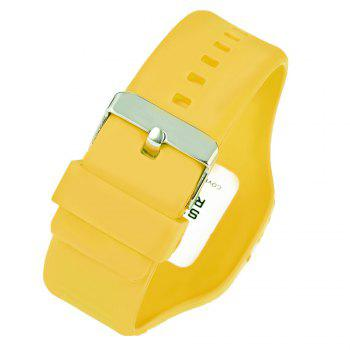 SYNOKE 66896 Waterproof Silicone Band Couple Electronic Watch -  YELLOW