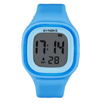 SYNOKE 66896 Waterproof Silicone Band Couple Electronic Watch -  BLUE