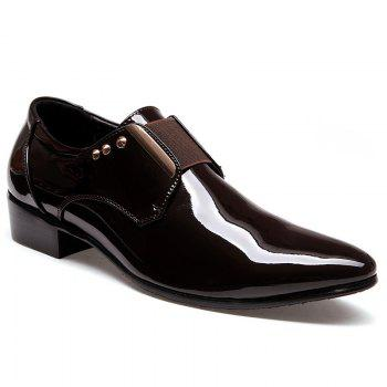 New Bright Black Leather Shoes Korean Version Young Men'S Shoes
