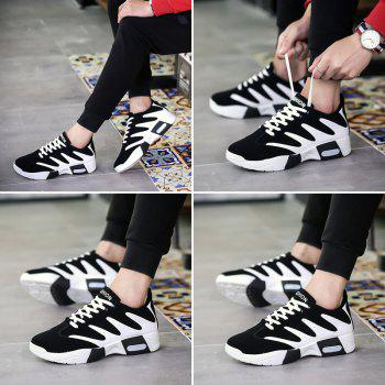 Men Hiking Shoes Outdoor  Sports Shoes - WHITE / BLACK 43