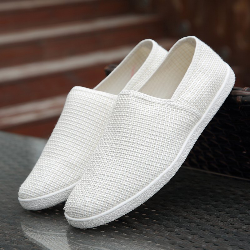 2018 Linen Casual Shoe White In Casual Shoes Online Store
