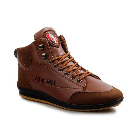 Autumn Men Shoes Youth Trend Men Leisure Student Shoe - KHAKI 43