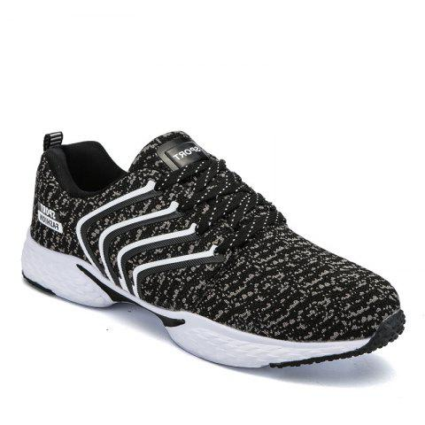 Casual Trainers Running Shoe Men'S Shoes - BLACK 42