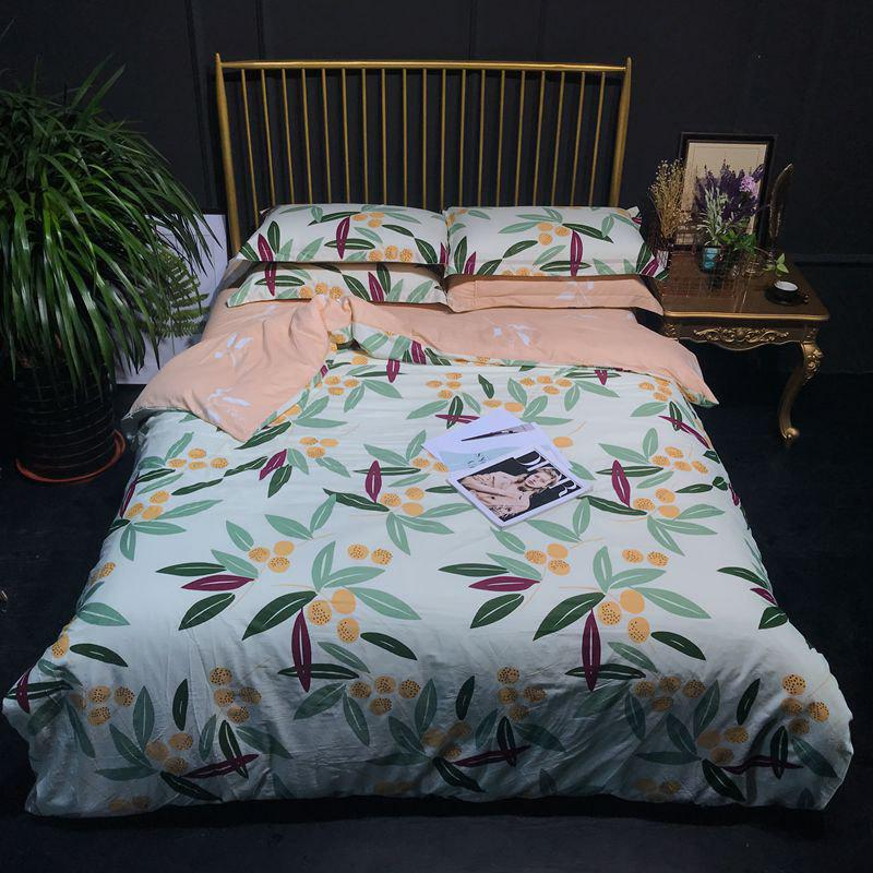 100 Percent Cotton Bed Linings Quilt and Sheet Sets - COLORMIX