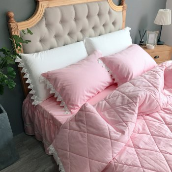 Quilting Quilt Bedding Sets -  PINK
