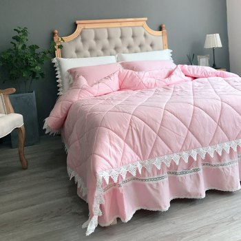 Quilting Quilt Bedding Sets - PINK PINK