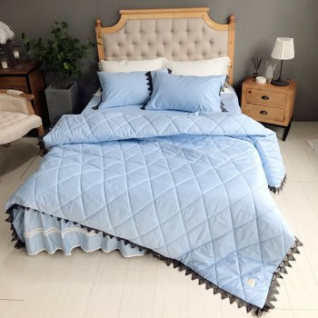 Blue Quilting Cover Bedding Set -  BLUE