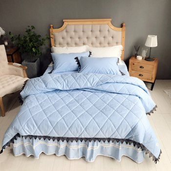 Blue Quilting Cover Bedding Set - BLUE BLUE
