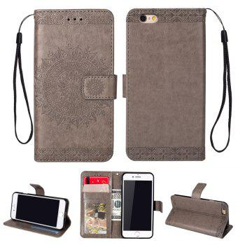 Totem Design Embossed Wallet Flip PU Leather Card Holder Standing Phone Case for iPhone 6/6S 4.7 Inch