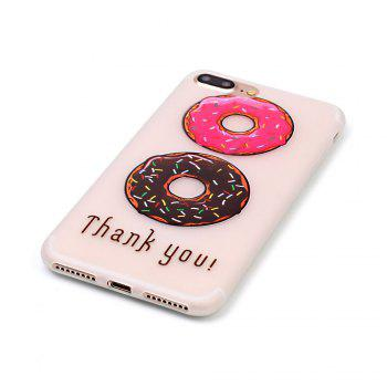 Donuts Luminous Ultra Thin Slim Soft TPU Silicone Case for iPhone 7 Plus/8 Plus - COLORFUL