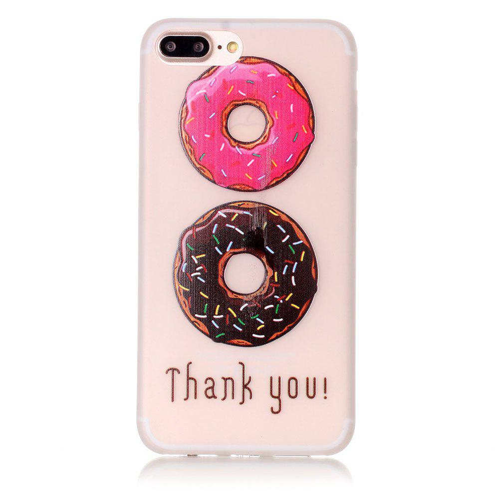 Donuts Luminous Ultra Thin Slim Soft TPU Silicone Case for iPhone 7 Plus/8 Plus - multicolor