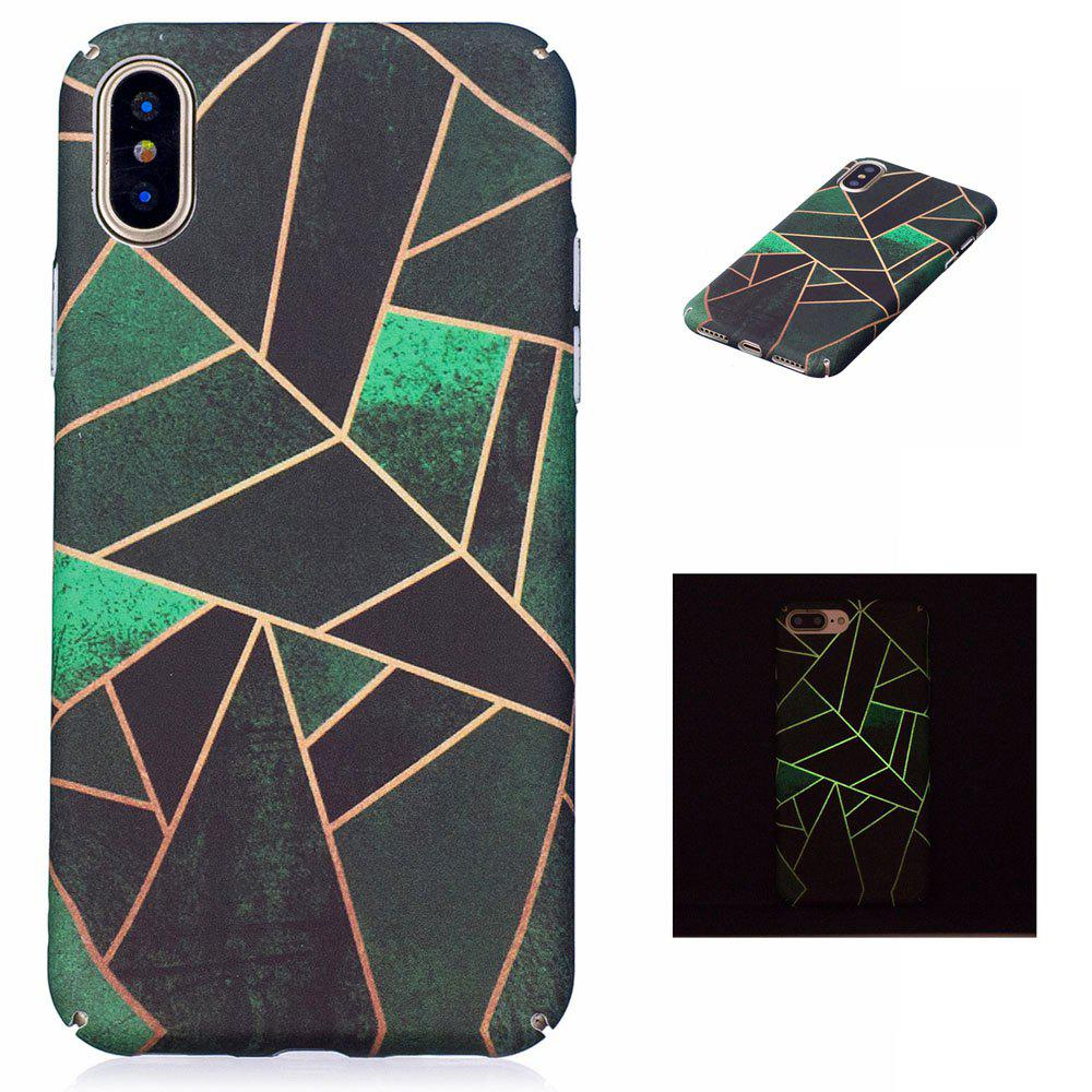 The Geometric Luminous Ultra Thin Slim Hard PC Case for iPhone X - COLORFUL