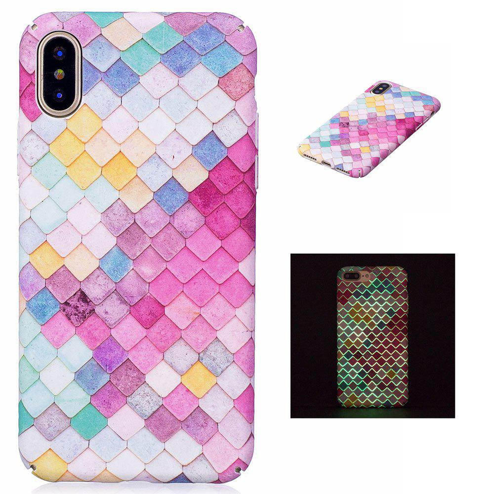 The Diamond Luminous Ultra Thin Slim Hard PC Case for iPhone X - COLORFUL