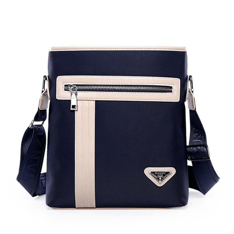 Business Oblique Oxford Cloth Cross-body Shoulder Bag - DEEP BLUE