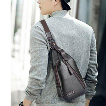 Men'S Single Shoulder Chest Sports Cross-Body Bag - BLACK