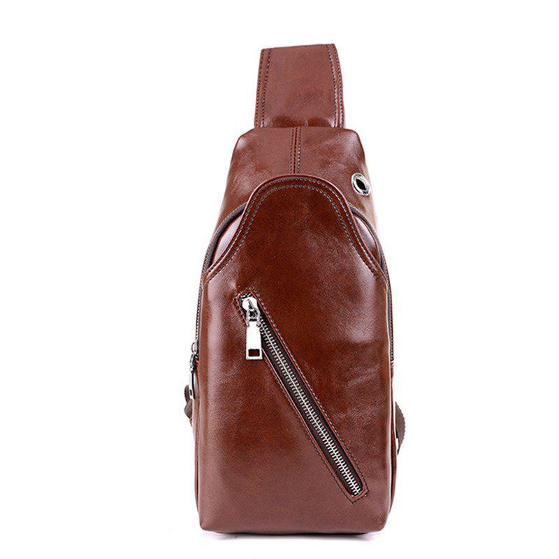 Men's Casual Sports Single Shoulder Cross-body Bag - BROWN