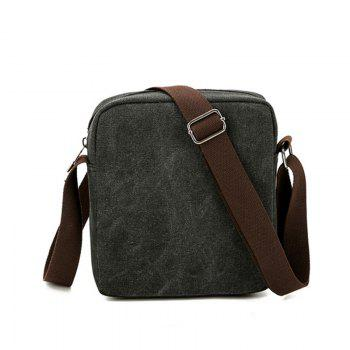 Outdoor Men's Canvas Shoulder Multi-function Bag - BLACK
