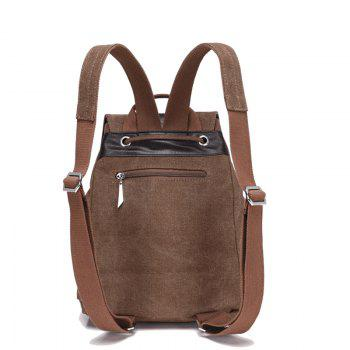 Classic Vintage Canvas Double Shoulder Bag -  DEEP BROWN