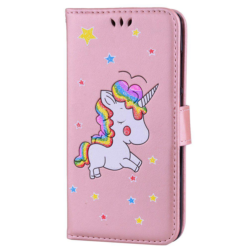 Flash Powder Unicorn  Premium PU Leather Phone Case for Xiaomi Redmi Note 3 - ROSE GOLD