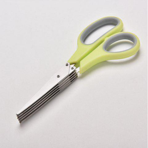 Atongm Five Layer Chopped Green Onion Scissors - GREEN