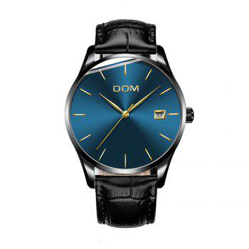 DOM M - 11bk 4892 Fashion Casual Waterproof Men Watch - BLACK AND BLUE BLACK/BLUE
