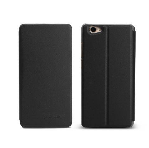 Ocube Flip Folio Stand Up Holder Pu Leather Case Cover for Vernee Thor Plus Cellphone - BLACK