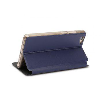 Ocube Flip Folio Stand Up Holder Pu Leather Case Cover for Vernee Thor Plus Cellphone - BLUE