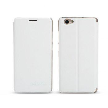 Ocube Flip Folio Stand Up Holder Pu Leather Case Cover for Vernee Thor Plus Cellphone - WHITE