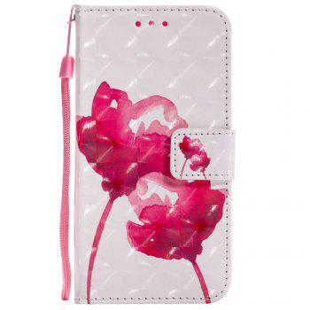 Explosions 3D Painted PU Phone Case for HUAWEI Y5 2017 / Y6 2017 - RED