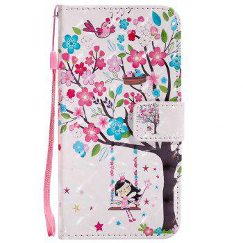 Explosions 3D Painted PU Phone Case for HUAWEI Y5 2017 / Y6 2017 - PINK