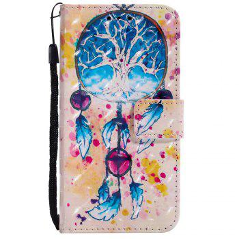 Explosions 3D Painted PU Phone Case for HUAWEI Y5 2017 / Y6 2017 - BLUE
