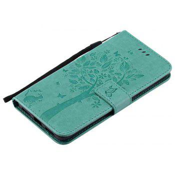 Embossed Cat and Tree PU TPU Phone Case for Xiaomi Red Mi Note4x / Note4 - IVY